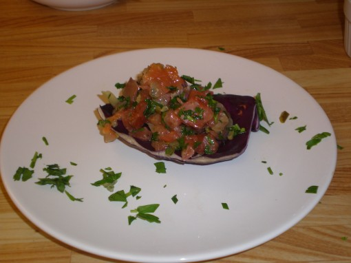 Home-cured salmon tartare