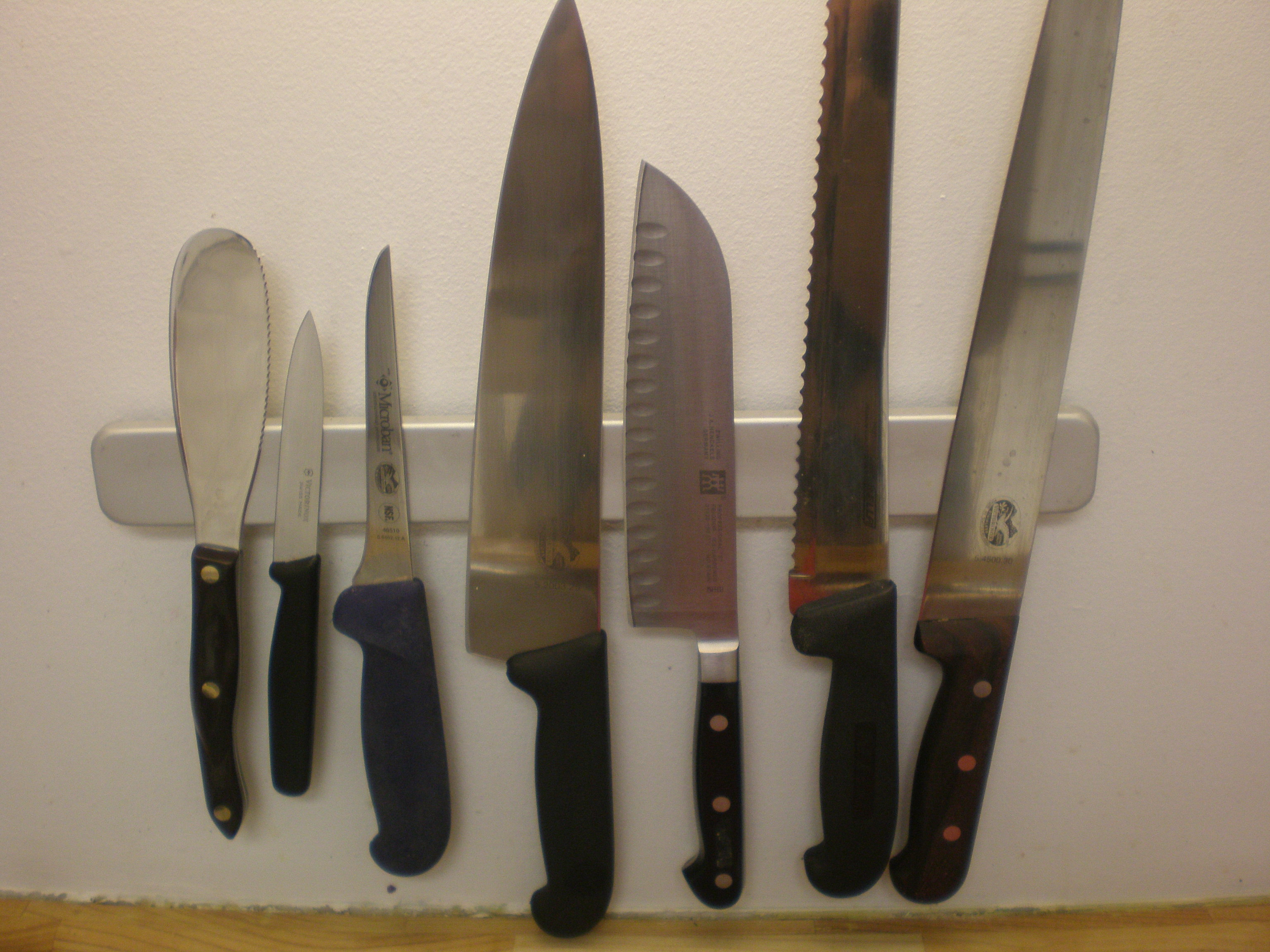 Our arsenal of kitchen knives